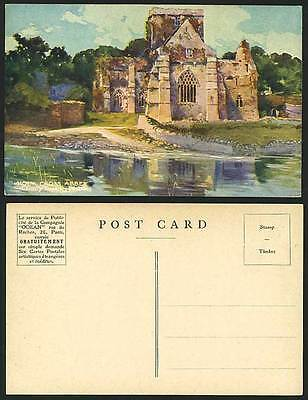CO TIPPERARY Old Artist Drawn Postcard HOLY CROSS ABBEY
