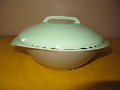 VINTAGE BRANKSOME Grey&Green TUREEN DISH , chip in the rim of tureen