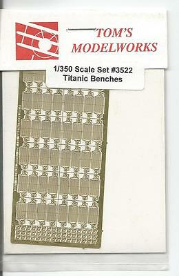 Tom's Modelworks Titanic Photo Etch Benches in 1/350  3522 ST