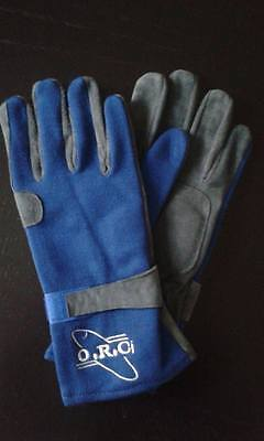 Blue Nomex Fireproof Racing Gloves Ministox Banger Brisca Race Rally Autograss
