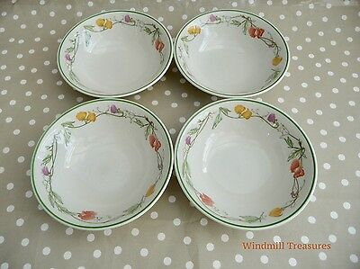 4 Johnson Brothers 'Summer Delight' Soup/cereal Bowls