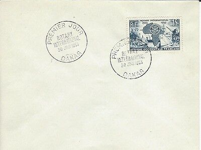 1955 Rotary International - French Occidental Africa - 50th Ann 1905-1955 FDC