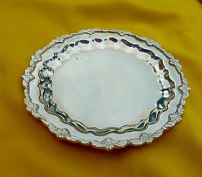 Silver plated card tray / plate