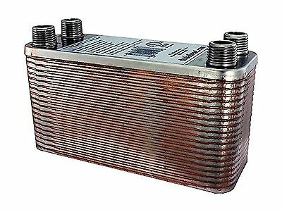 Duda Energy HX1240:M12 B3-12A 40 Plate Stainless Steel Heat Exchanger with 1/...