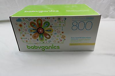 Babyganics Face, Hand & Baby Wipes, Fragrance Free, 800 Count