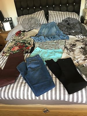 Joblot Bundle Of Size 12 Ladies Dresses Jeans  Etc 10 Items Inc Next And M&s