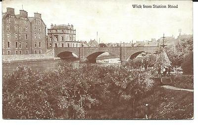 Vintage RP Postcard, Wick from Station Road. Wick.