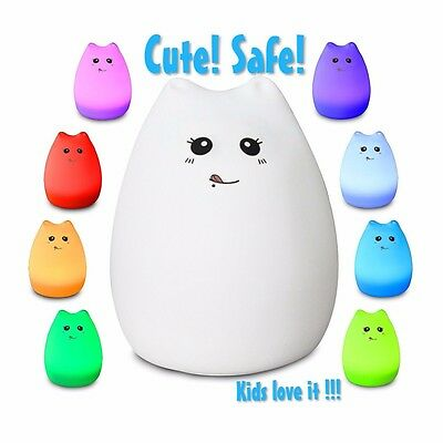 Celebrity Kitty LED Baby Night Light, Eco-Frendly Silicon Material, Brand New.