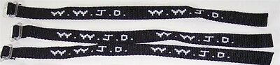 1 Dozen Black and White W.W.J.D. Wrist Bands What Would Jesus Do?  Bracelets