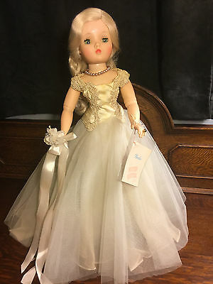 "Madam Alexander Vtg. Cissy Bride Doll 20""tall Marked Wedding Gown Orig.1950's"