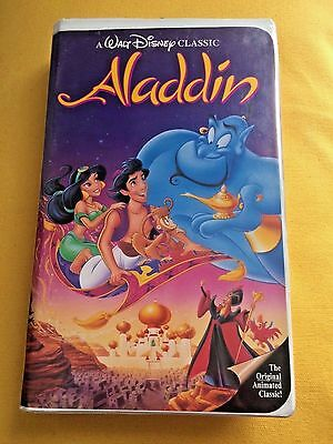 "Walt Disney ""Aladdin"" Black Diamond Classic RARE VHS Video #1662 Vintage 1993"