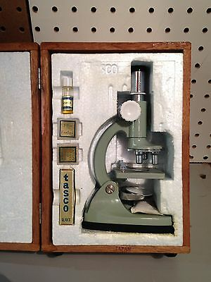 Tasco Deluxe - High Quality Microscope ( Travel Size ) Antique
