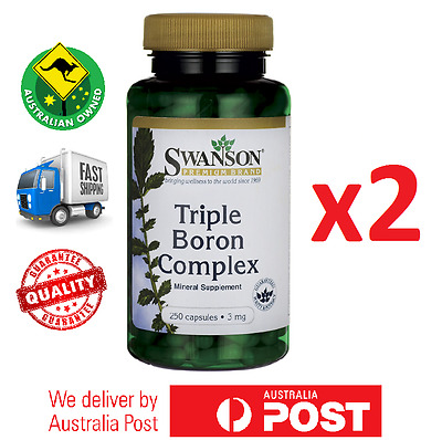 2x Triple Boron Complex 3 mg 500 Total Capsules by Swanson- AUS STOCK BEST PRICE