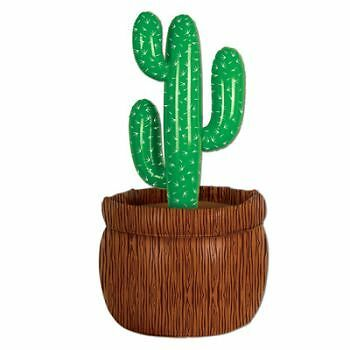 Inflatable Cactus Cooler Western Theme Party Cooler Holds 24 12 oz Cans