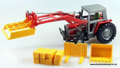 Britains Farm 9595 MASSEY FERGUSON MF595 TRACTOR & FRONT LOADER 1/32 Scale Model