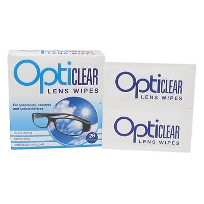OptiClear Lens Wipe 6 Pack Glasses Camera Phone Ipad Tablet