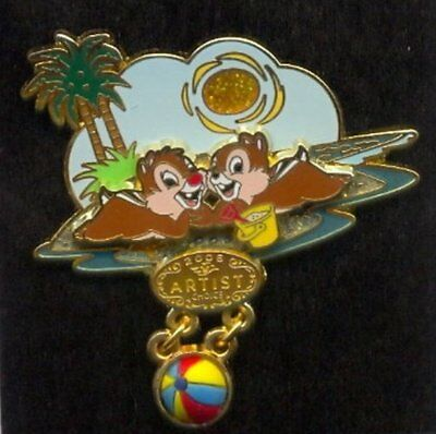 Disney Chip Dale DCL Artist Choice Beach Ball Dangle Pin LE New