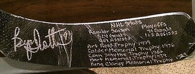 BRYAN TROTTIER Autographed Signed Full Size Stat stick NY Islanders HockeyInk