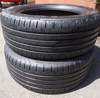 2x 205 55 16 CONTINENTAL ContiEcoContact 5 Used Part Worn tyre 6mm