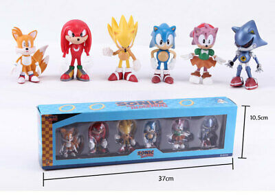 6 pcs Sonic the Hedgehog Figure Boxed PVC Game Toy Sonic Action Figure Cute Gift