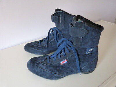 Blue Suede Car/Kart Racing Boots
