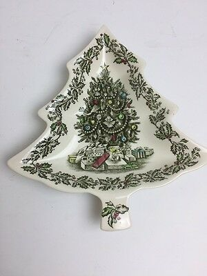Johnson Brothers Christmas Tree Candy Dish Vintage
