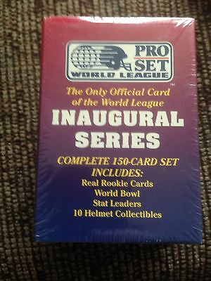 Pro Set Inaugural Series Complete 150 Card Set World League American Football