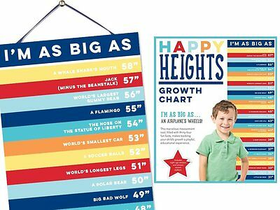 Happy Heights Growth Chart by Sticky Bellies - Girls - Boys - Now Availalble Boy