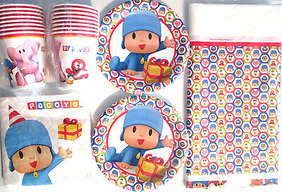 POCOYO - Birthday Party Supplies Set Pack for 16 w/ Table Cover