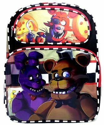 """New Five Nights at Freddy's Foxy 16"""" Large Backpack Boys School Book Bag"""