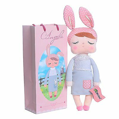 Me Too Angela Stuffed Bunny Baby Plush Rabbit Doll Gifts for Girls 12 inches