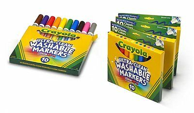Crayola Ultraclean Broad Line Washable Markers , Color Max [4 Pack, 10 Count Per