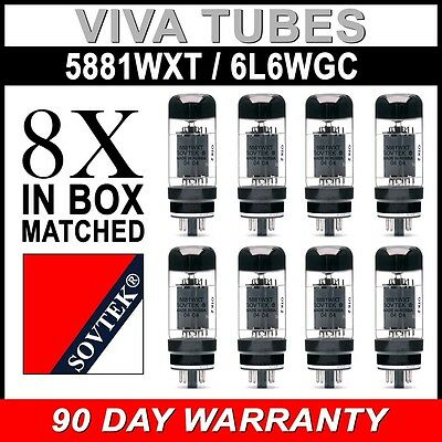 Brand New Plate Current Matched Octet (8) Sovtek 5881WXT / 6L6WC Vacuum Tubes