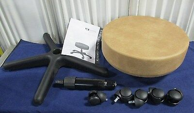 Clinton Industries 2130-3GP 5-Leg Spin-Lift Exam Stool 250lbs Max Load NEW