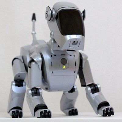 Sony Aibo | Ers-111 Silver-Perlmutt Edition - Roboter Hund Komplettset - Wuff!