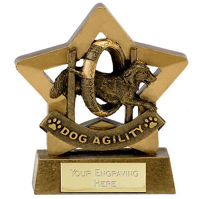 Dog Agility Show Competition Trophy Awards FREE ENGRAVING 2 Sizes Available