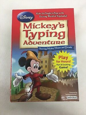 DISNEY: Mickey's Typing Adventure Starring Mickey Mouse & friends Windows, New