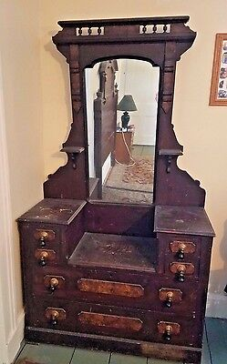 Antique dresser, original mirror and handles, local pick-up only