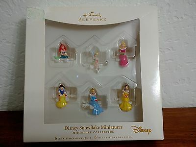 Hallmark Disney Princess Snowflake Miniatures Christmas Ornaments Set 6 Mini