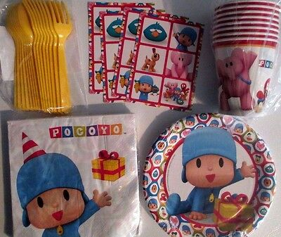 POCOYO - Birthday Party Supply Snack Pack w/ Stickers