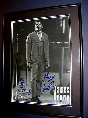 JAMES BROWN signed and framed GODFATHER OF SOUL photo