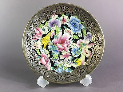 Antique Chinese Famille  Rose Plate Early 20Th Century