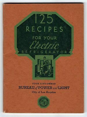 125 Recipes For Your Electric Refrigerator