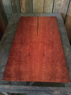 Fiddleback Redgum Electric Guitar Drop Top . Luthier #807
