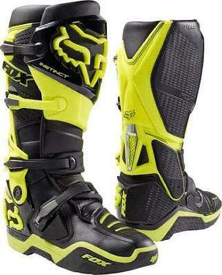 NEW Fox Instinct Boots Black Fluro Yellow from Moto Heaven