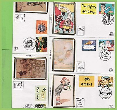 G.B. 1993 Greetings set on ten Benham First Day Covers