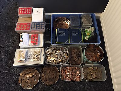 30kg mixed uk copper coins and sets