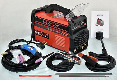 TIG-200DC 200-Amp TIG Torch/Stick/Arc Welder 110/230V Dual Voltage Welding New