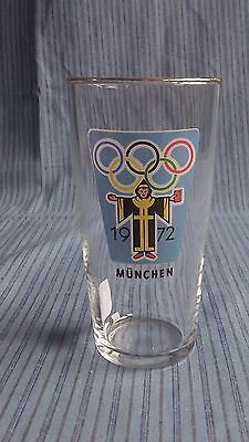 Vintage original Munich / Munchen Olympics Games 1972 Collectors Tumbler Glass 3