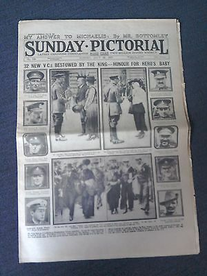 Sunday Pictorial NEWSPAPER- July 22nd 1917-WW1-32 NEW V.Cs Bestowed by the King.